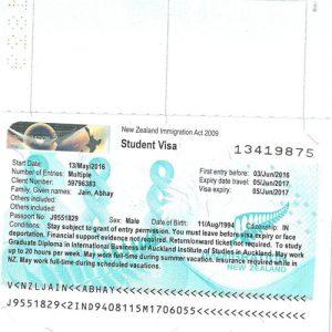 Abhay - New Zealand Visa
