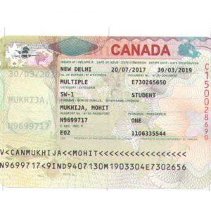 Mohit Mukhija - Canada Visa