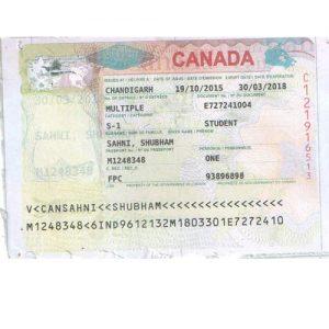 Shubham - Canada Visa