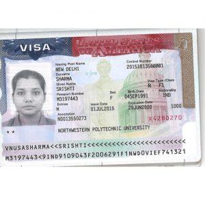 Srishti - USA Visa