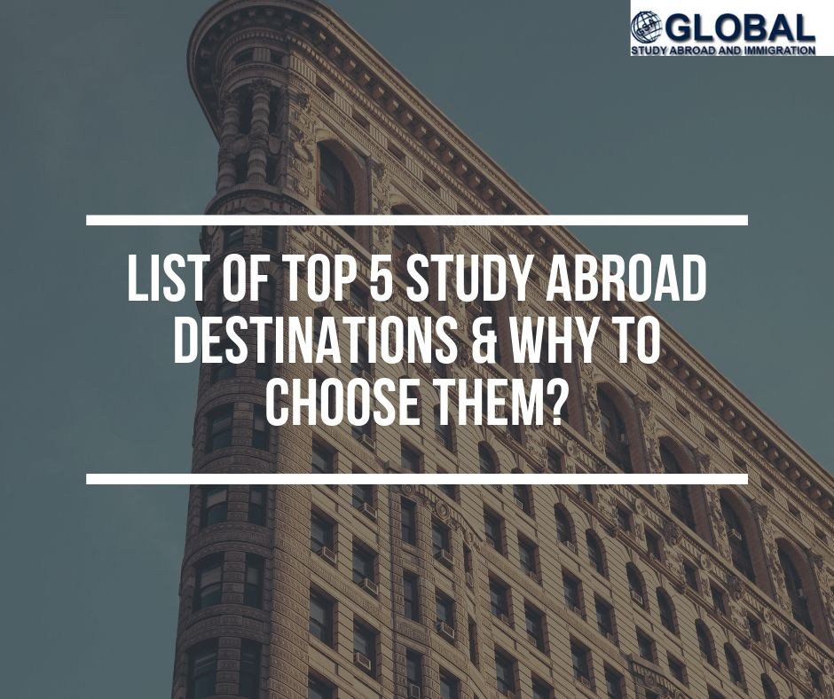 Top 5 Study Abroad Destinations